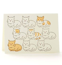 Creamsicle Cats Greeting Card - Ilee Paper