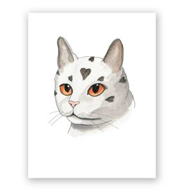 Mincing Mockingbird I am your Love Cat Greeting Card - The Mincing Mockingbird