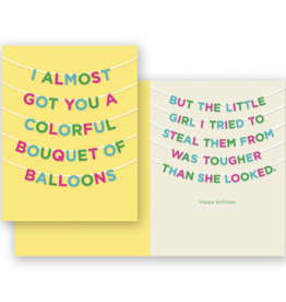 Mincing Mockingbird Balloon Bouquet Birthday Greeting Card - The Mincing Mockingbird