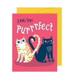 Allison Cole You're Purrrfect Greeting Card - Allison Cole