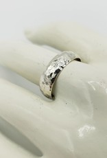 Tiger Mountain Hammered Ring Band, Sterling Silver- Heavy