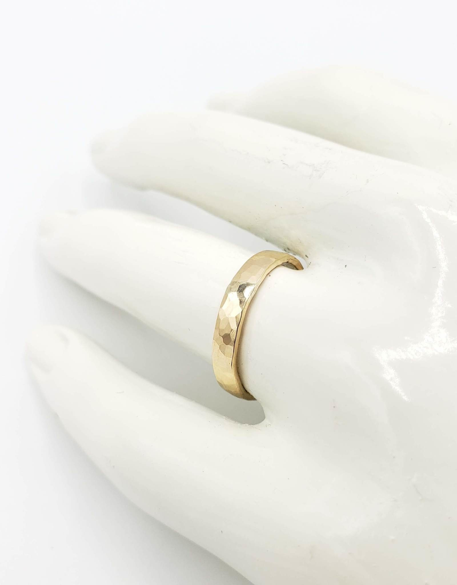 Peter James Jewelry Hammered Ring Band, Gold fill by Peter James Jewelry