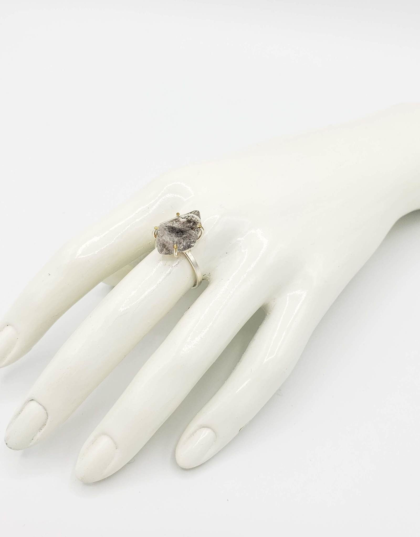 """Redux Herkimer """"Diamond"""" Ring, Silver Plated"""