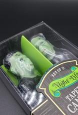 Frankenstein Halloween Tapered Candle