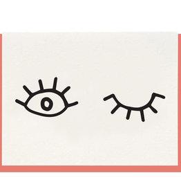 """Wink"" Greeting Card - Dahlia Press"