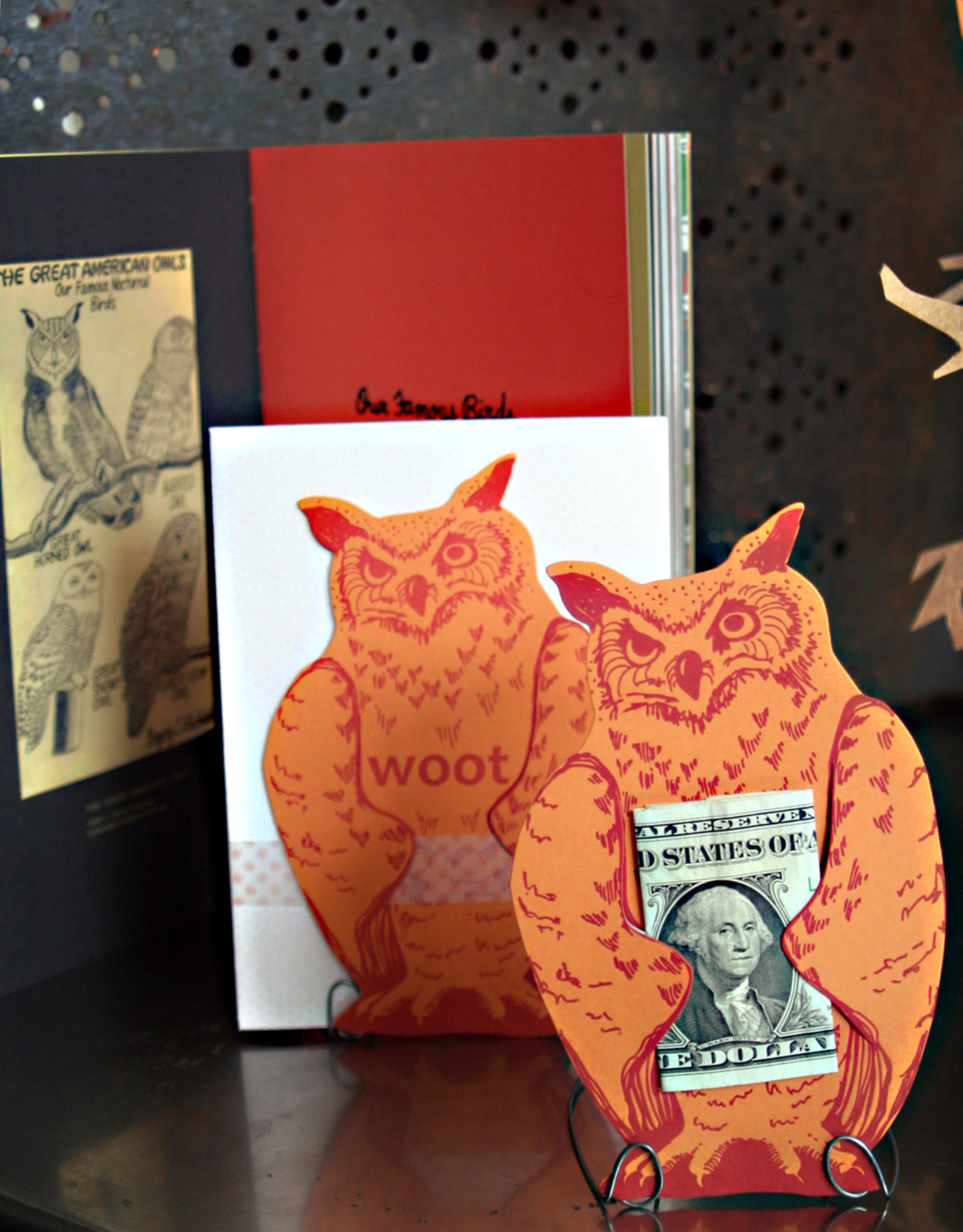 Greeting Card Die Cut Owl  - Blackbird Press