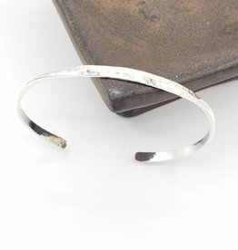 Peter James Jewelry Simple Hammered Cuff, Sterling Silver
