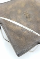 Peter James Jewelry Square Bangle Bracelet, Hammered Sterling Silver