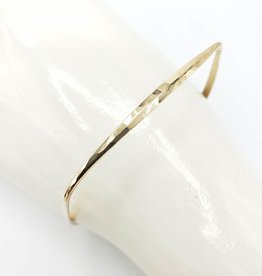 Peter James Jewelry Square Bangle Bracelet, Hammered Gold Fill