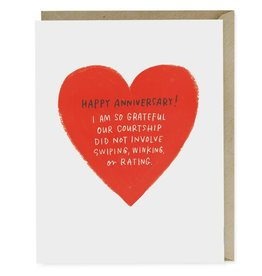 """Emily McDowell """"Swiping, Winking or Rating"""" Anniversary Greeting Card - Emily McDowell"""
