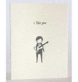 """I Like You"" Guitar Guy, Greeting Card - Fugu Fugu"