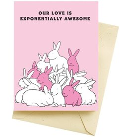 "Seltzer ""Our Love Is Exponentially Awesome"" Greeting Card - Seltzer"