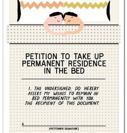 """""""Permanent Residence Petition"""" Greeting Card - Laura Berger"""