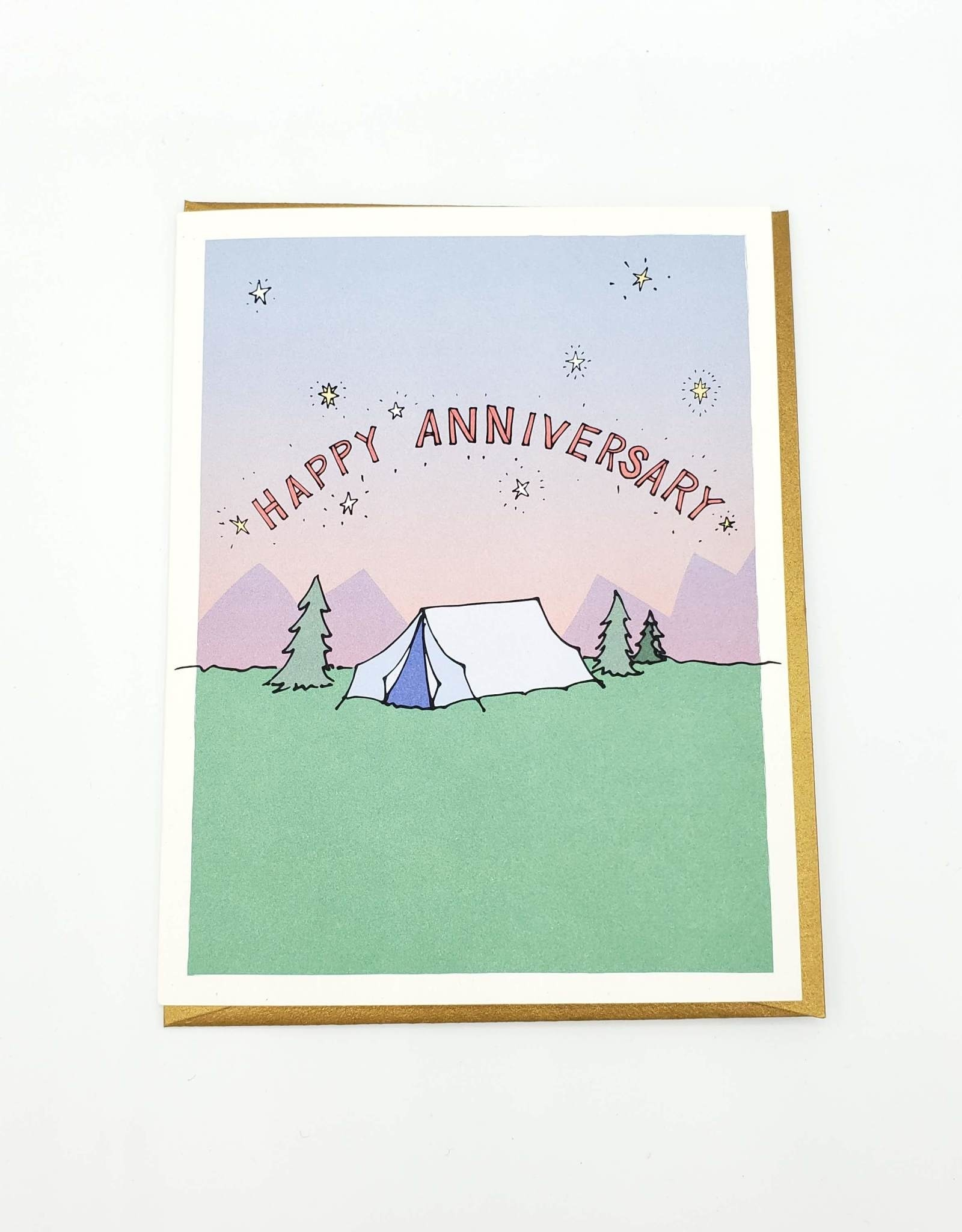 "Seltzer Camping ""Happy Anniversary"" Greeting Card - Seltzer"