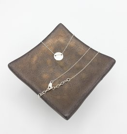 Annika Inez Delicate Circle Necklace - Sterling Silver