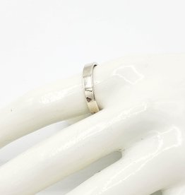 Flat Ring Band, Sterling Silver
