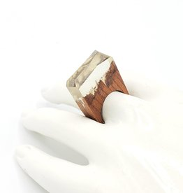 Hidden Landscapes Resin & Wood Ring