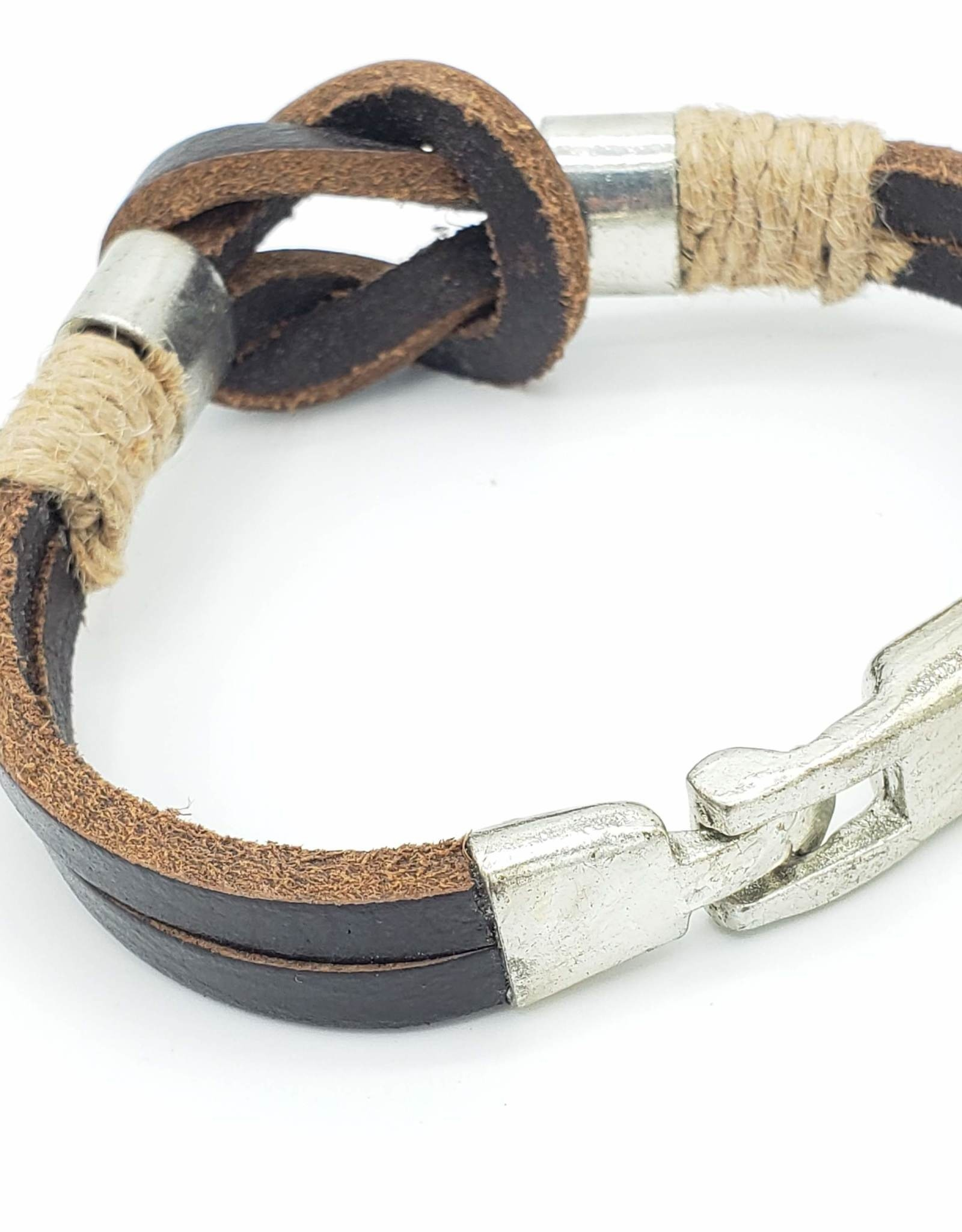 Knotted Leather Men's Bracelet