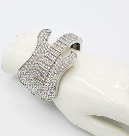 Redux Rhinestone Guitar Cuff Bracelet