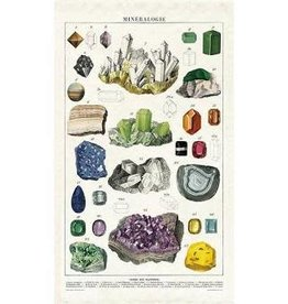 Cavallini Papers Mineralogy Tea Towel by Cavallini