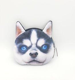 Husky Dog Zipper Pouch
