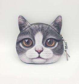 Tuxedo Cat Zipper Pouch
