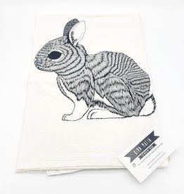 Floursack Tea Towel - Black Rabbit