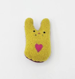 Squash Blossom Tiny Recycled Sweater WeeKinnie Plushie