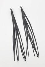 Redux Recycled Bike Tire Tassel Earrings
