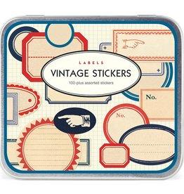 Cavallini Papers Stickers Pack Vintage Labels - Cavallini