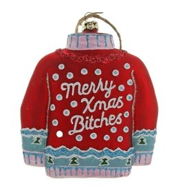 Christmas Sweater, Red Ornament