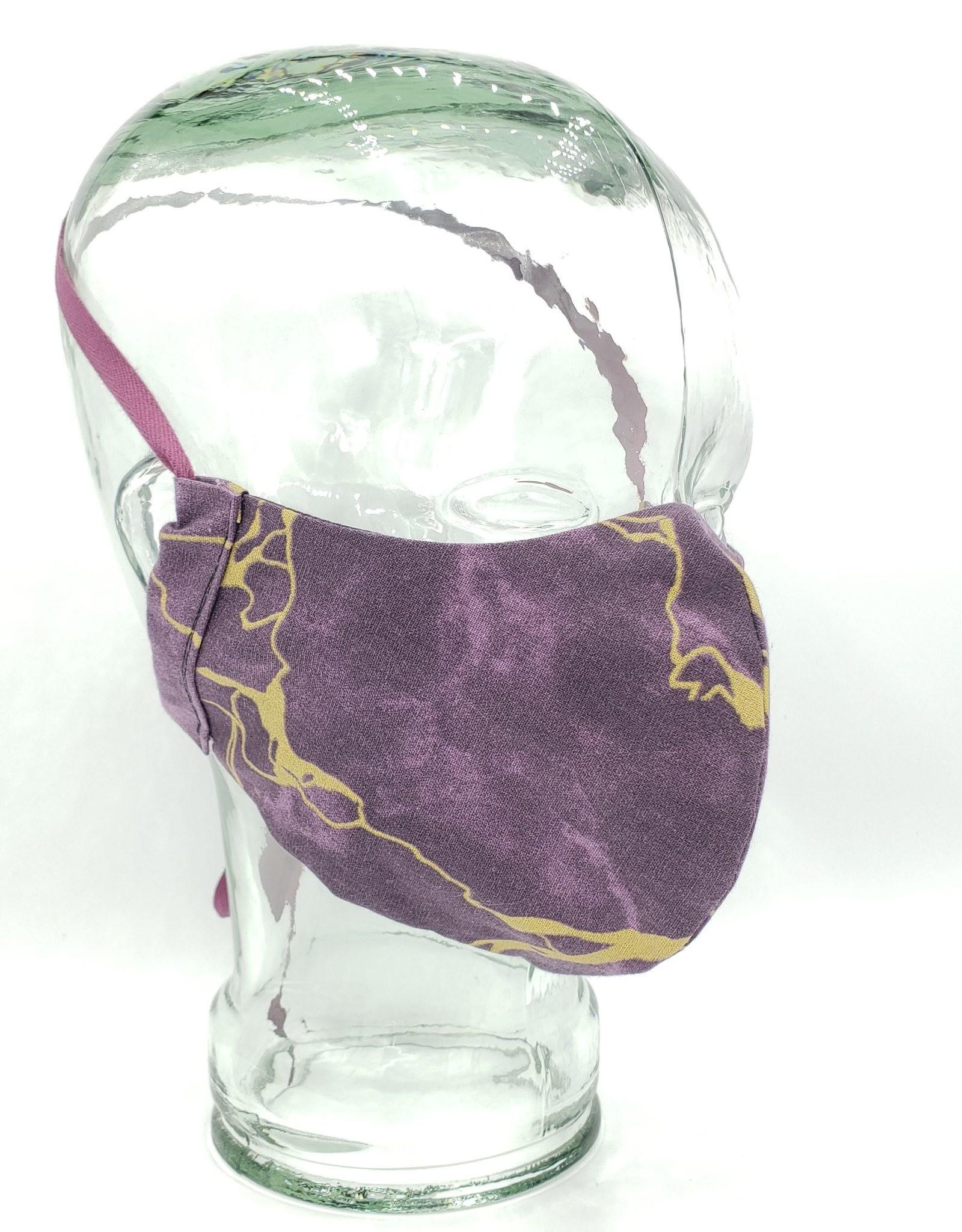 Redux Marblized Maroon Mask - Handmade Fabric Face Mask