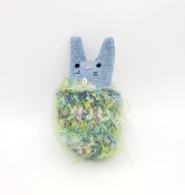 Boysenberry Tiny Recycled Sweater WeeKinnie Plushie with Nest