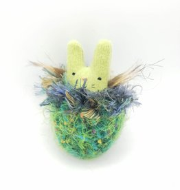 Sweet Pea Tiny Recycled Sweater WeeKinnie Plushie with Nest