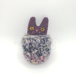 Licorice Tiny Recycled Sweater WeeKinnie Plushie with Nest