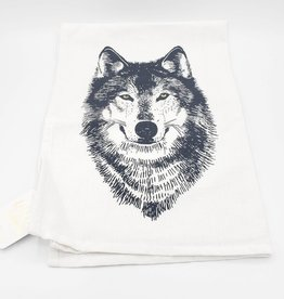 Wolf Tea Towel by Little Lark
