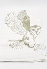 Floursack Tea Towel - Grey Barn Owl