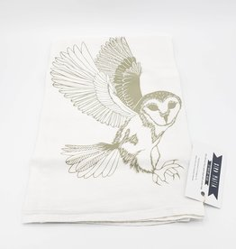 Floursack Tea Towel - Grey Barn Owl