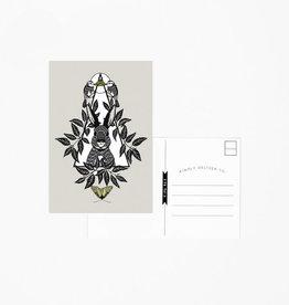 Rabbit Postcard - Bird Mafia