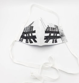 Redux Train Tracks Mask - Handmade Fabric Face Mask