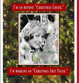 """Shit Faced"" Christmas Greeting Card - Umlaut"