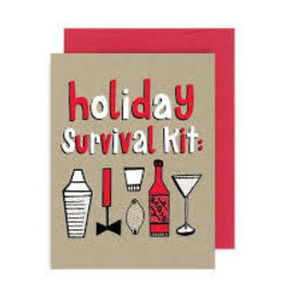 """""""Holiday Survival Kit"""" Holiday Greeting Card - Allison Cole"""