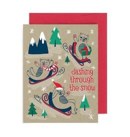 """""""Dashing Through the Snow"""" Holiday Greeting Card - Allison Cole"""
