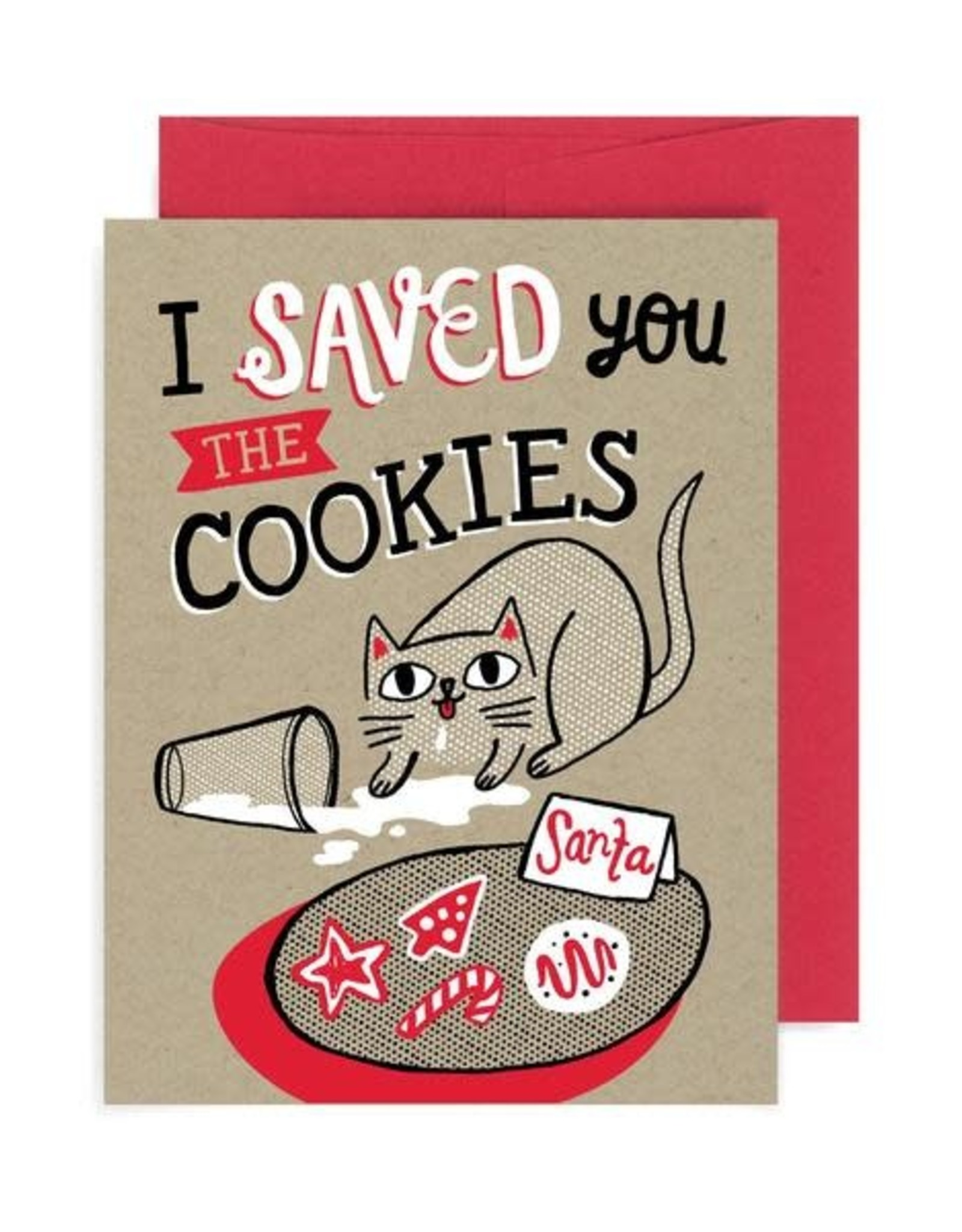 """Allison Cole """"I Saved You the Cookies"""" Cat Holiday Greeting Card - Allison Cole"""