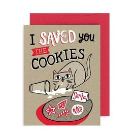 """""""I Saved You the Cookies"""" Cat Holiday Greeting Card - Allison Cole"""