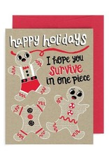 """Allison Cole """"Hope You Survive in One Piece"""" Holiday Greeting Card - Allison Cole"""