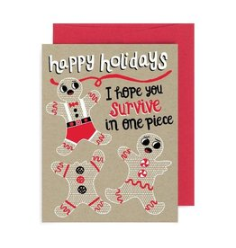 "Allison Cole ""Hope You Survive in One Piece"" Holiday Greeting Card - Allison Cole"
