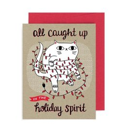 """""""All Caught Up In The Holiday Spirit"""" Holiday Greeting Card - Allison Cole"""