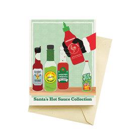 "Seltzer ""Santa's Hot Sauce Collection"" Greeting Card - Seltzer"