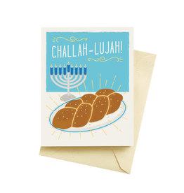 "Seltzer ""Challah-lujah!"" Hannukah Greeting Card - Seltzer"